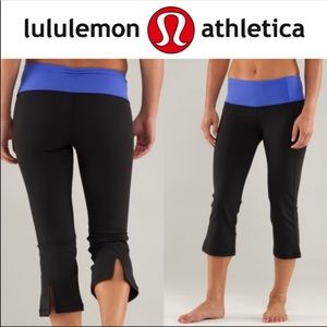 Lululemon gather and crow cropped leggings